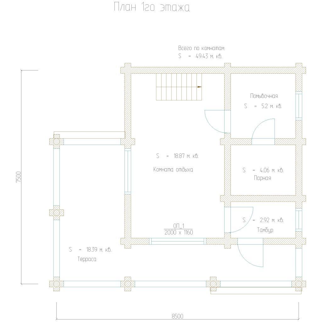 проект 110 план 1го этажа