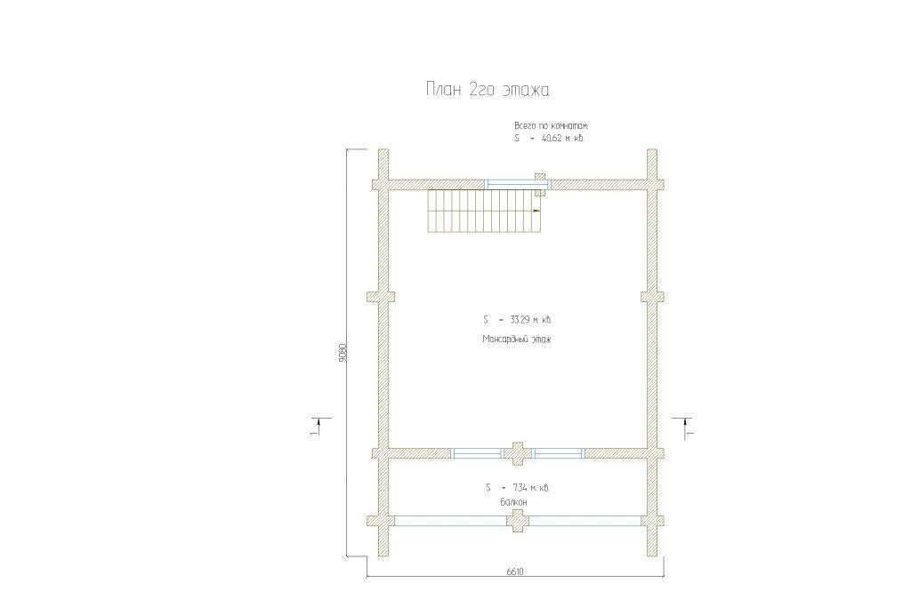 План 1го этажа бани 90м2