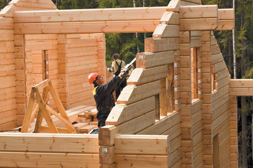 скорость строительства дома из бруса
