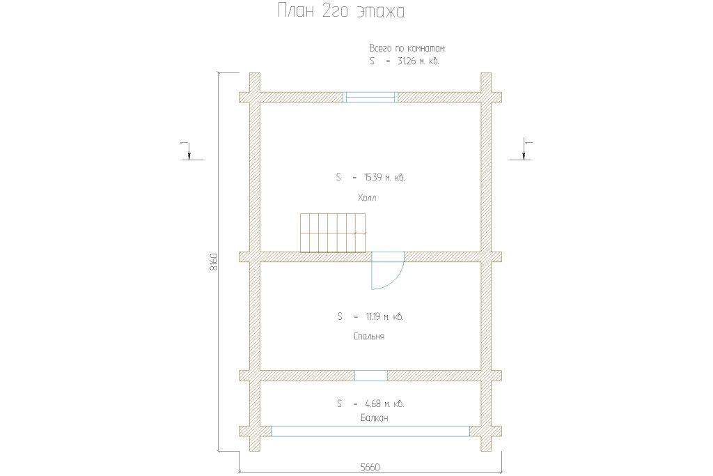 Проект 156 дом-баня 75м2 бревно 220