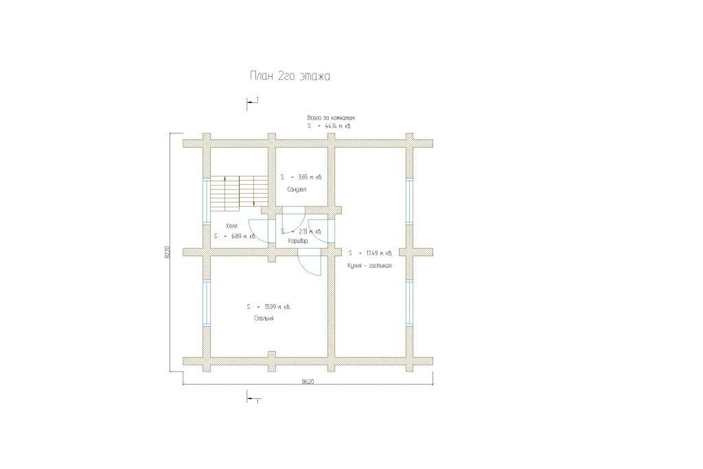 Проект 112 дом-баня 87м2 бревно 260