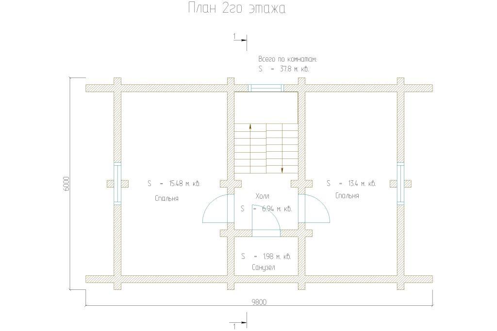 Проект 239 дом-баня 75м2 бревно 200