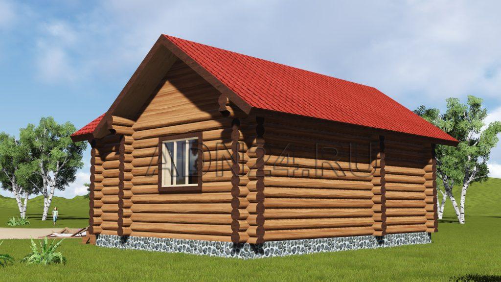 Проект 127 дом 34м2 бревно 280