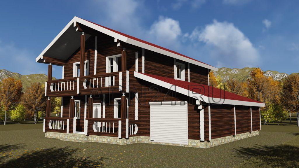 Проект 340 дом 200м2 брус 220х220