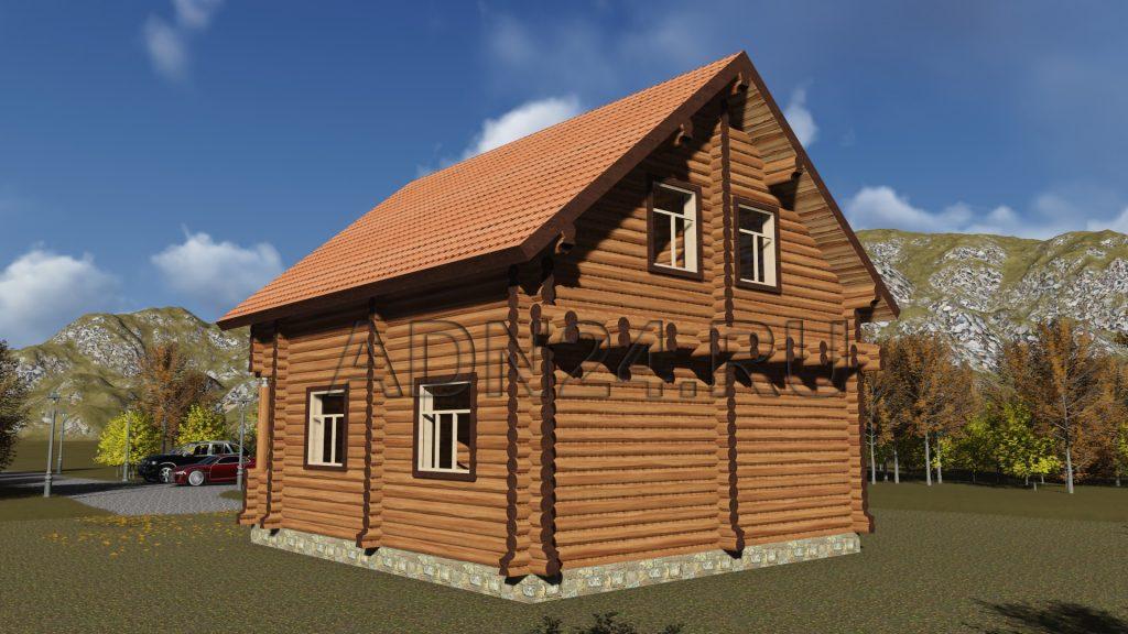 Проект 386 дом 126м2 бревно 240