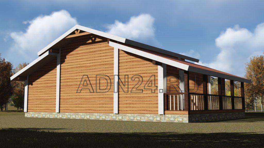 Проект 535 дом 89м2 брус 180х180