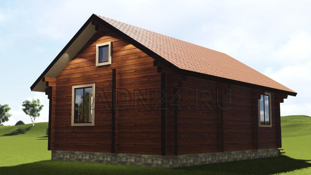 Проект 105 дом-баня 54м2 брус 200х200