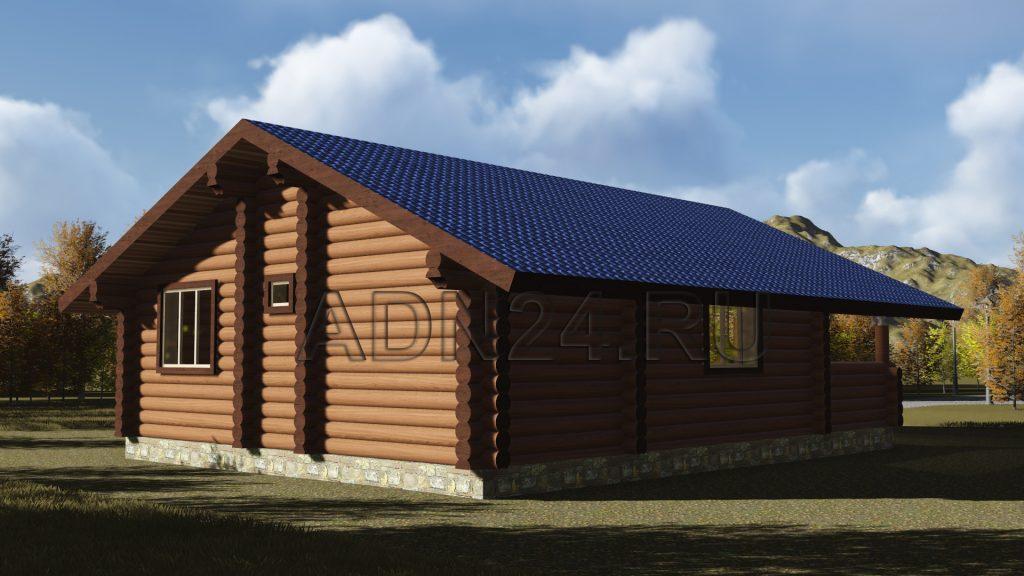 Проект 135 дом-баня 79м2 бревно 260