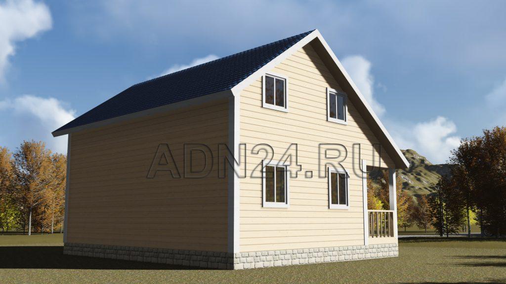 Проект 79 дом 119м2 брус 180х180