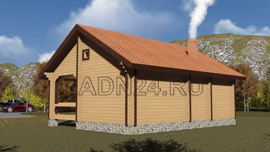 Проект 276 дом-баня 56м2 брус 150х150