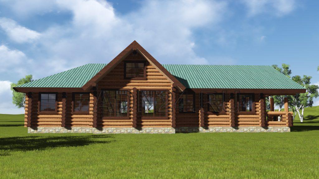 Проект 565 дом 150м2 бревно 280