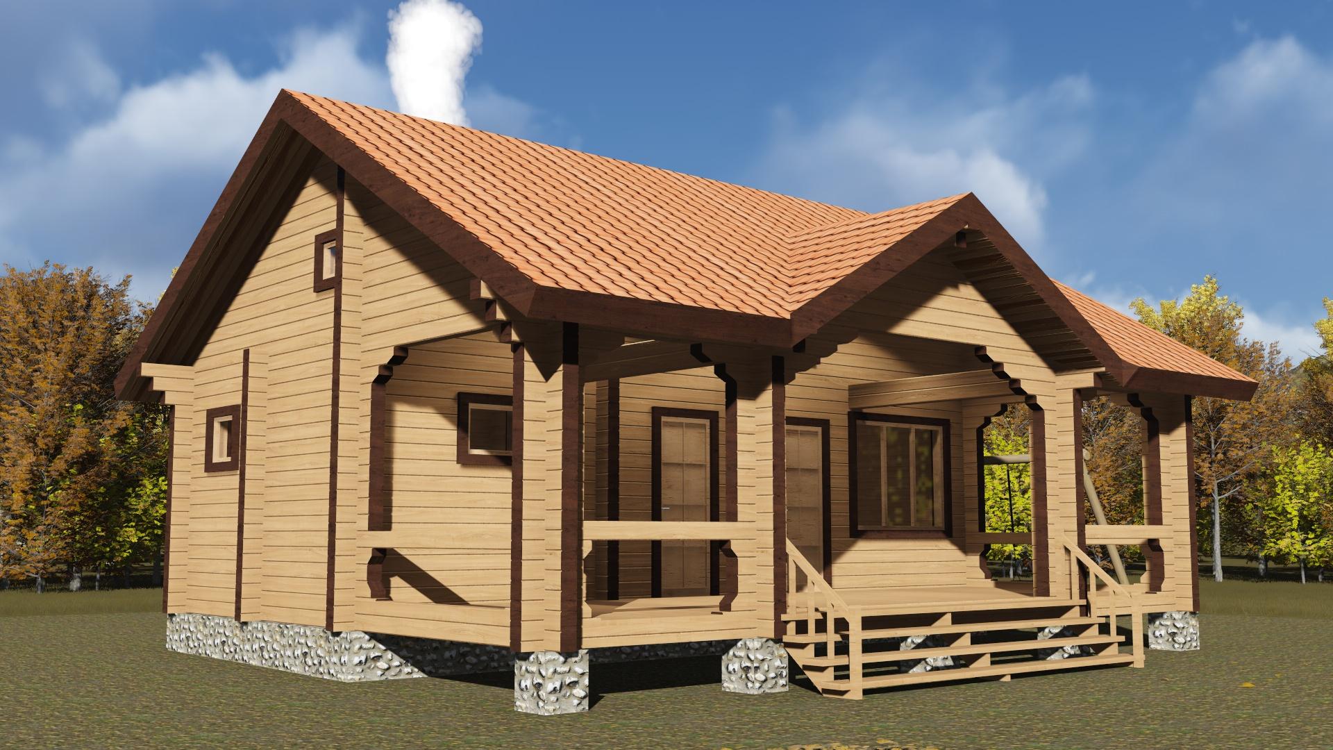 проект дом баня из бруса