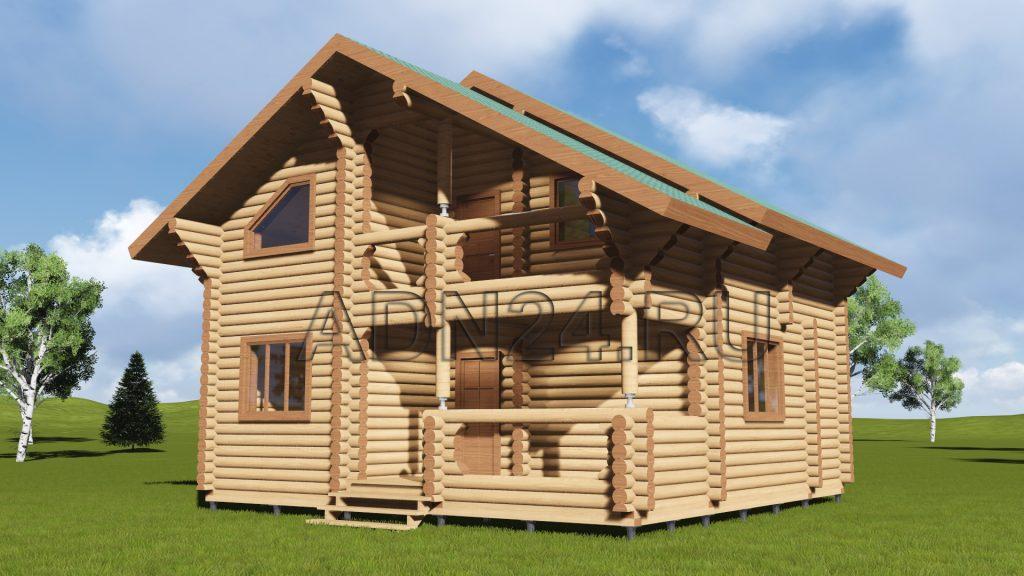 Проект 95 дом 96м2 бревно 220