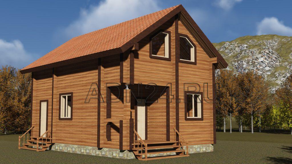 Проект 192 дом 78м2 брус 220х140