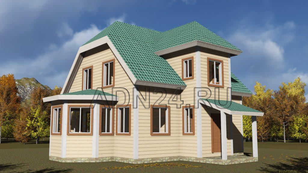 Проект 363 дом 138м2 брус 180х180