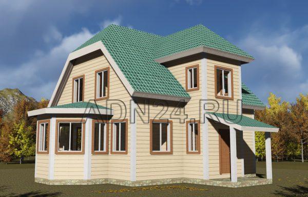 Двухэтажный дом 138м2 из бруса 180х180 — проект 363