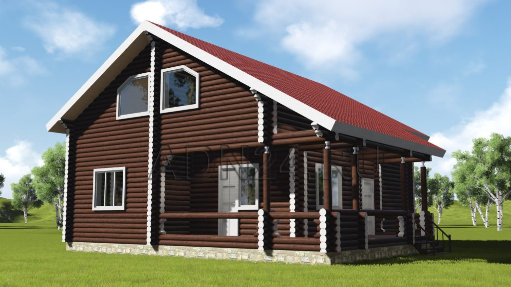 Проект 427 дом 182м2 бревно 200