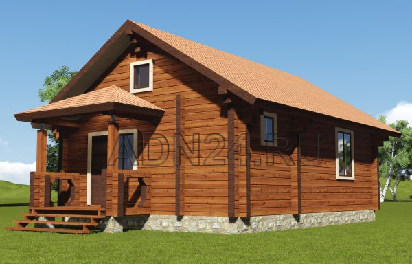 Дом-баня 54м2 из бруса 200х200 — проект 105