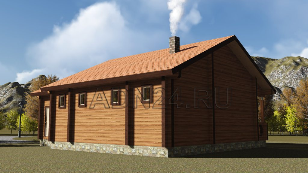 Баня из бруса 180х180 с террасой 98м2 - проект 49