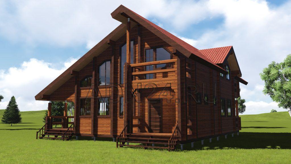 Проект 285 дом 212м2 брус 180х180