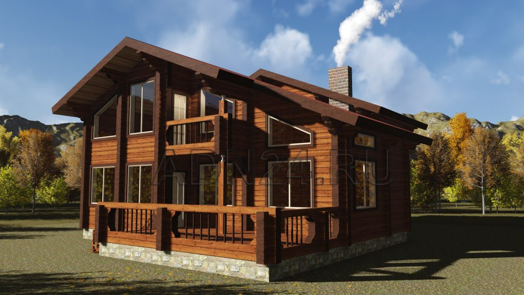 Проект 306 дом 205м2 брус 220х180