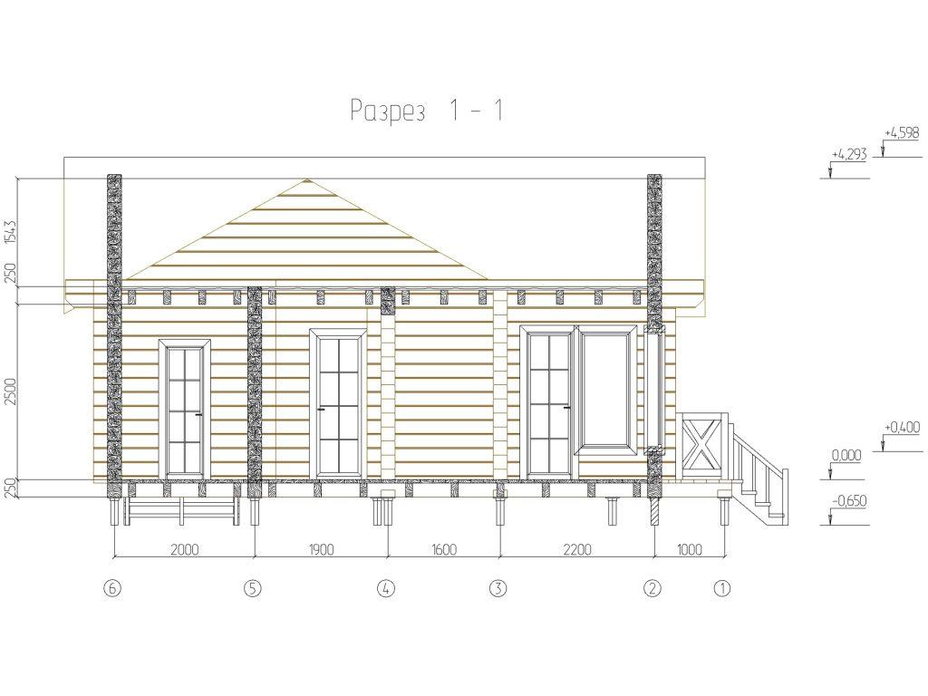 проект дома бани из бруса 200х200