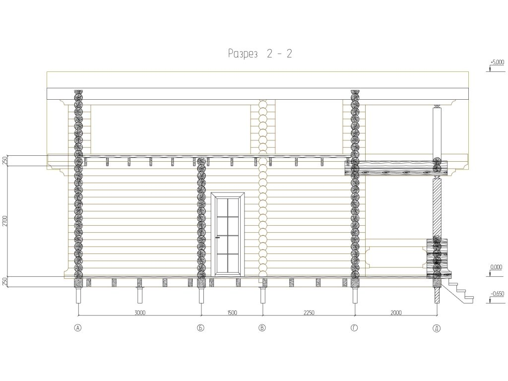 проект бани 7х8