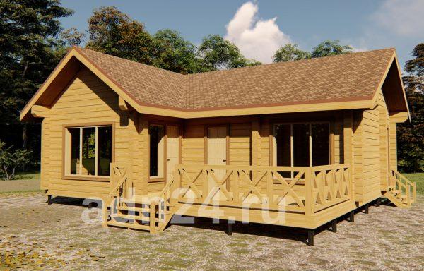 Проект 643 Дом-баня 8.7х9.8 брус 200х200